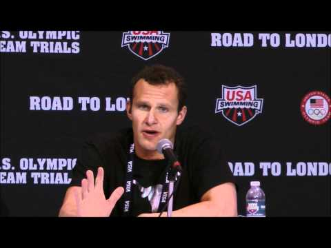 Brendan Hansen Press Conference: 2012 U.S. Olympic Team Trials - 100 Breast Champion