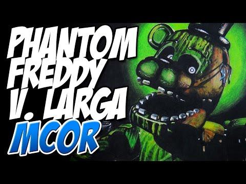 Como Dibujar a Phantom Freddy de FNAF3 Version Larga