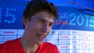 Fabian Gering (GER) after winning Silver in the 10,000m