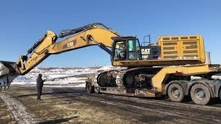 Cat 390F Loading And Transporting By Side - Fasoulas Heavy Transports