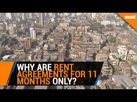 Why are rent agreements only 11 months in duration?