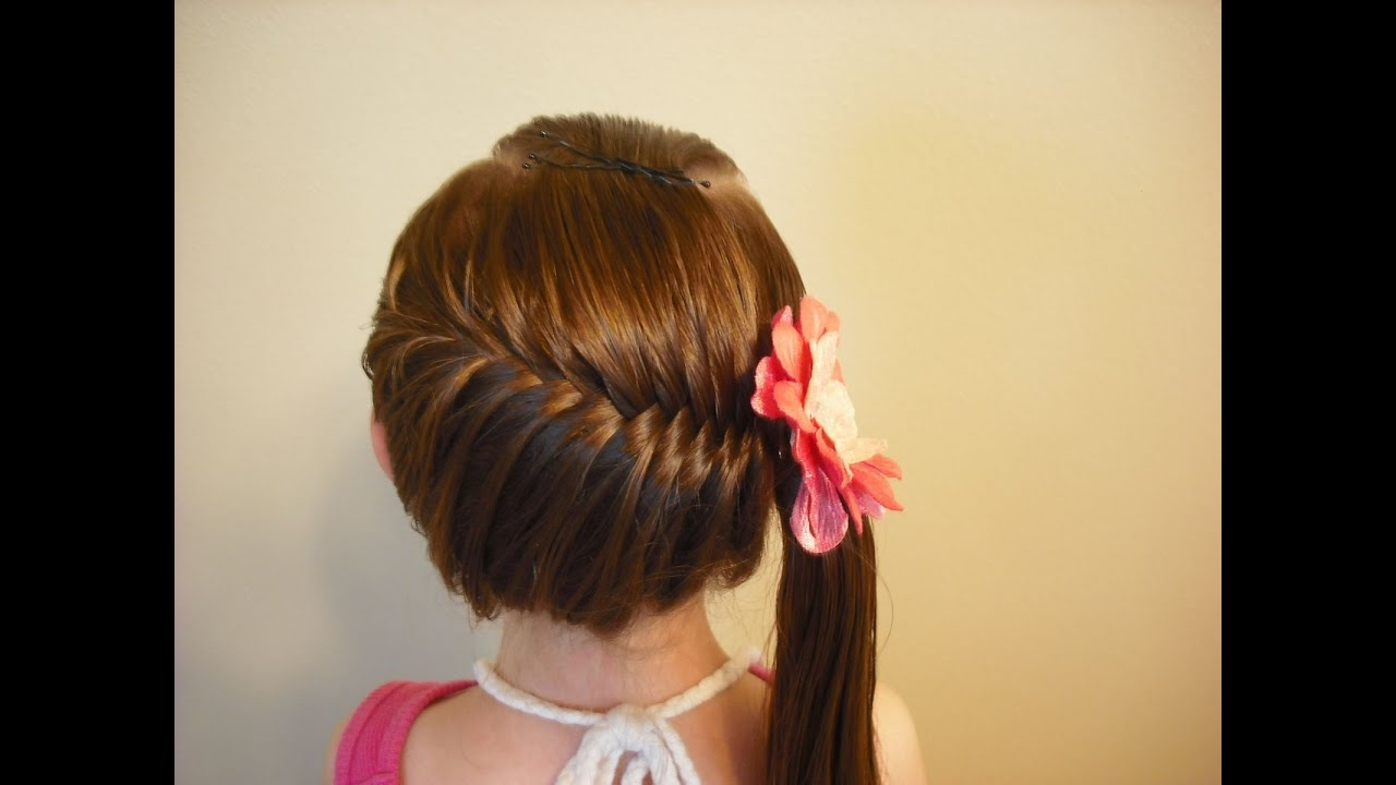Side Swept French Fish Braid Hairstyle  YouTube - Fishtail Braid Hairstyles