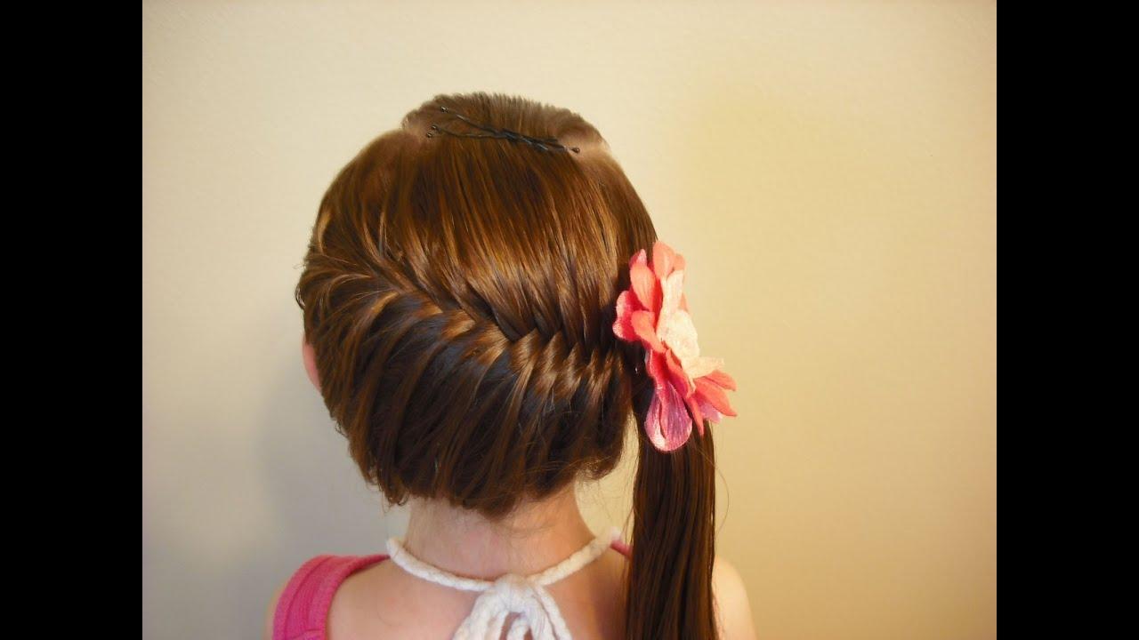 Красивые прически для девочек на средние волосы от красивых