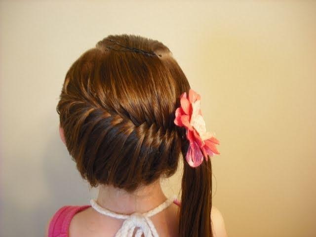 Hairstyles For School Yt : Trenza de raiz con melena suelta por debajo pedido