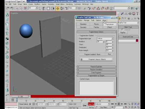 RAY FIRE TOOL 3DS MAX TUTORIAL (part 1) [HQ]