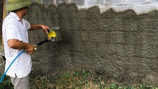 Máy - gầu phun vữa trát tường cầm tay quá nhanh   THIẾT BỊ CÔNG TRÌNH