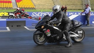 MODIFIED BIKE DRAG RACING AT SYDNEY DRAGWAY 12.4.2015