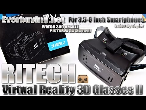 RITECH Virtual Reality 3D Glasses II - The Best/Cheapest Google Cardboard Solution? Adjustable Lens!