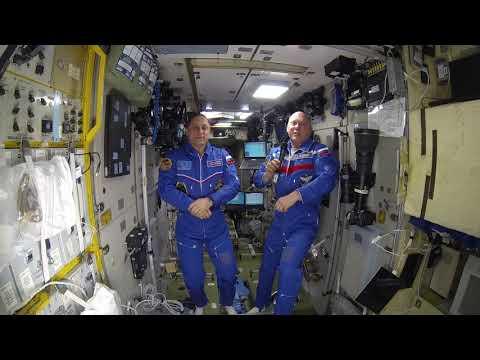19.04.2018. Приветствие от космонавтов