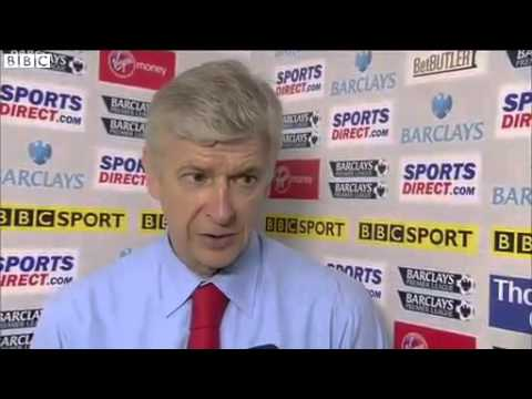 Wenger after Newcastle 0 1 Arsenal (subs)