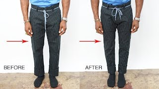 HOW TO TAPER YOUR PANTS
