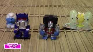 Чупа Чупс сюрприз , transformers minifigures, the smurfs package Surprise bag opening