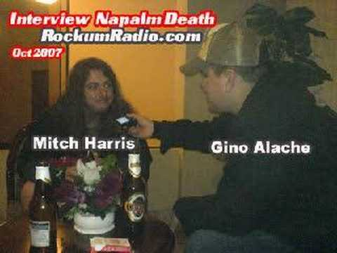 Napalm Death In Lima Entrevista Mitch Harris RockumRadio.com