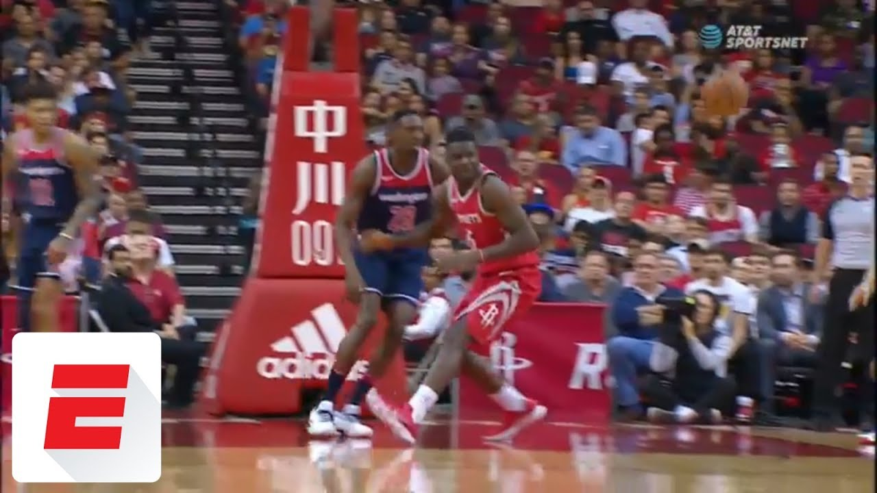 Chris Paul accidentally nutmegs own teammate with pass, gets assist on 3-pointer anyway | ESPN