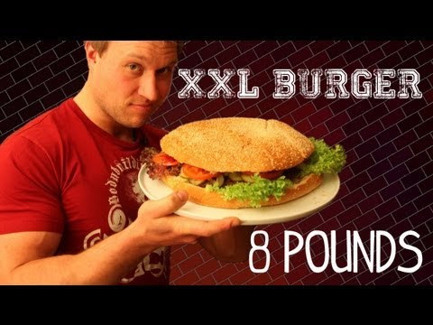 Furious Pete - The XXL Burger - 8lb (3.6kg) Burger