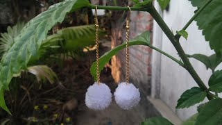 DIY How to make pompom earrings handmade earrings