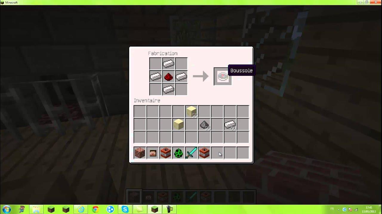 Comment faire une boussole dans minecraft youtube - Comment plastifier une photo ...