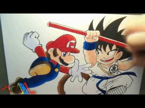 Dibujando A: Mario Vs Goku video