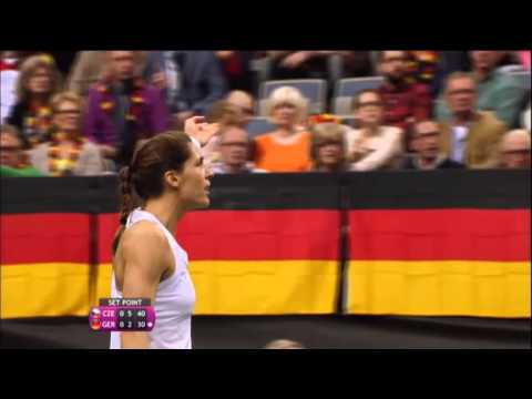 2014 Fed Cup Final | Highlights Petra Kvitova (CZE) v Andrea Petkovic (GER)