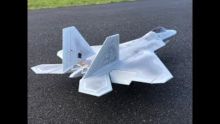 Slow flight, Touch n GO! Freewing F-22 Raptor 90mm EDF Jet Flight! F22 Motion RC