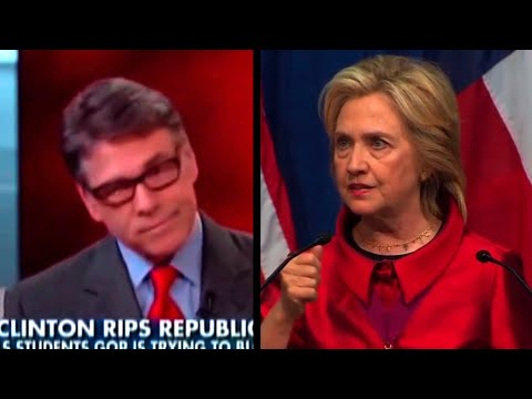 Hillary Hits Rivals Over Voting Rights, Rick Perry Hits Back