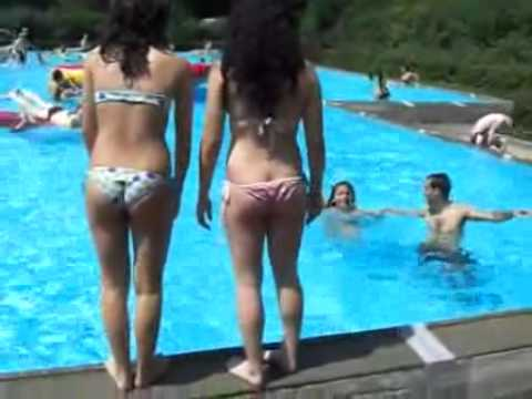 Family Bikini Waterpark Fun video