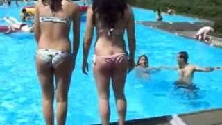 Family bikini waterpark fun