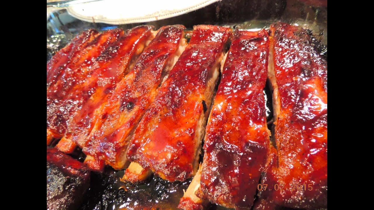 Приготовить свиные ребрышки в духовке пошагово фото