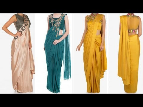 Indo western dhoti saree design ideas/dhoti saree for wedding guest engagement reception//2018