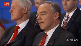 Did Bill Clinton Fall Asleep During Hillary's Speech?