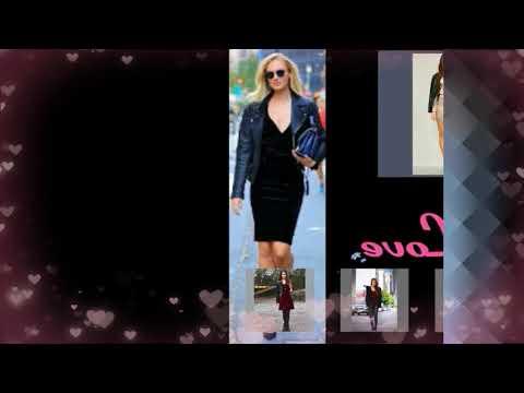 Leather velvet outfit for women