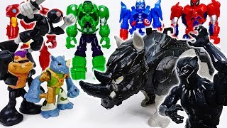 Black Panther's Armor Suit Is Destroyed~! Don't Worry Rhino Guard Is Coming - ToyMart TV