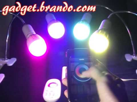 Home RGB/Plain LED Light Bulb + Android iOS APPS Control + Remote Control