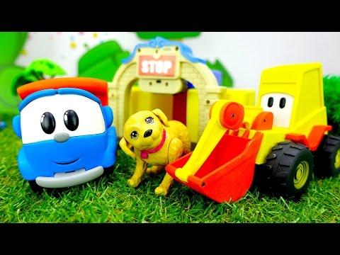 Видео для детей - Грузовичок Лева и маленькая собачка
