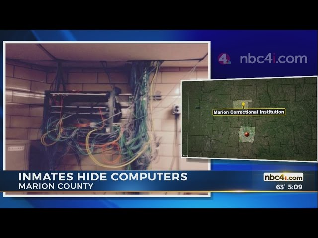 Marion Prison inmates built networked computers, hid them in ceiling to commit crimes
