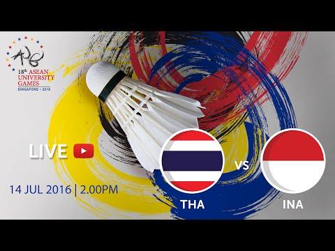 Badminton Men's: Final Indonesia v Thailand | 18th ASEAN University Games Singapore 2016