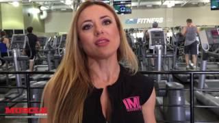 IFBB Pro Bojana Vasiljevic trains back 2 weeks out