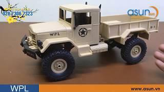 Xe Tải Quân Sự Mỹ Điều Khiển Từ Xa Military WPL 4WD 2 cầu visai - Asun.vn