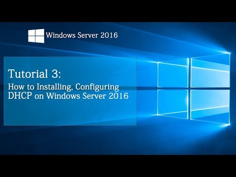 How to install DHCP on Windows Server 2016 | Tutorial 3