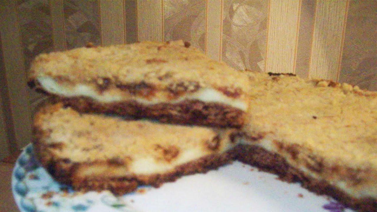 Сыпучий пирог с творогом рецепт