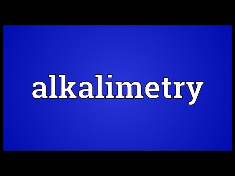 Header of Alkalimetry