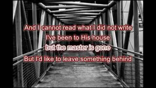 Sean Rowe : To Leave Something Behind (Lyrics)