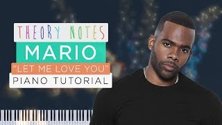 How to Play Mario - Let Me Love You | Theory Notes Piano Tutorial