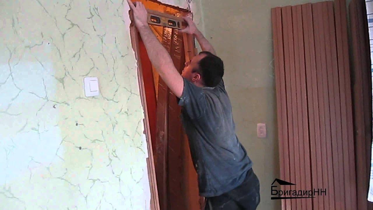 Как установить межкомнатную дверь своими руками? 55