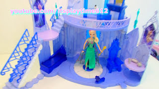 QUEEN ELSA ICE MAGIC PALACE Disney Frozen Toys Review | itsplaytime612