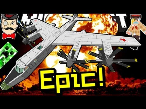 Minecraft EPIC BOMBER! Huge Airplane!