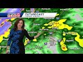 Video: Heavist rain arrives overnight