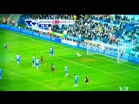 MANCHESTER CITY VS READING 2-0 ALL GOALS 2013