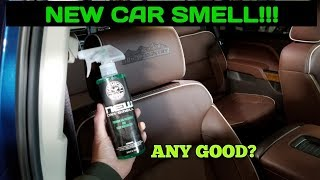CG New Car Smell.  How to use chemical guys air fresheners