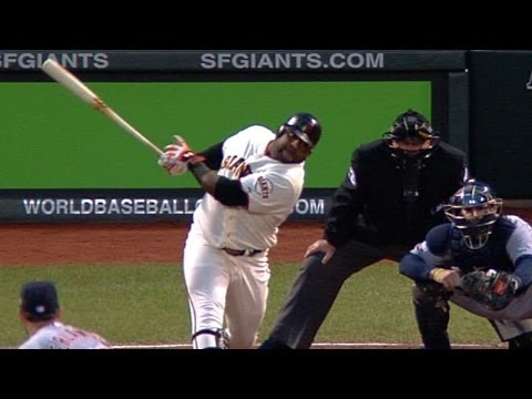 WS2012 Gm1: Sandoval swats three homers vs. Tigers